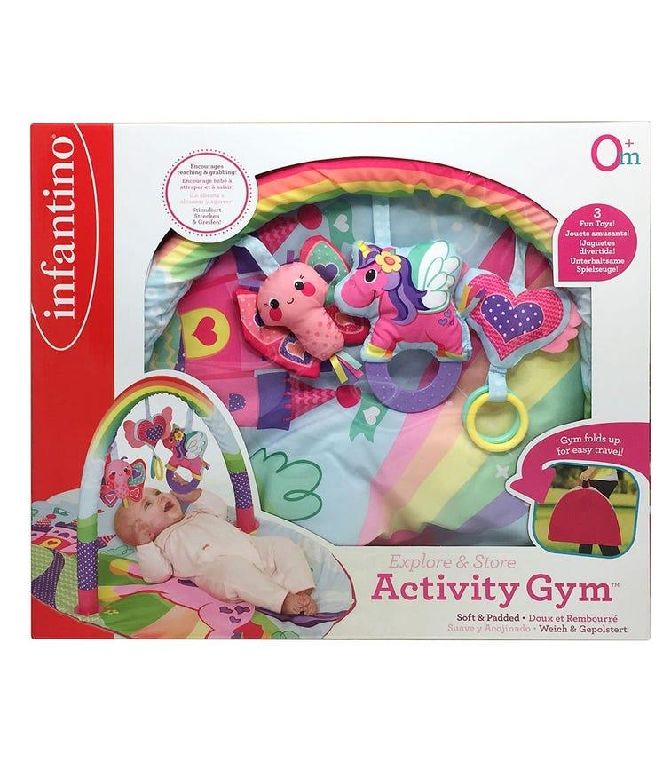 INFANTINO Explore & Store Activity Gym Sparkle