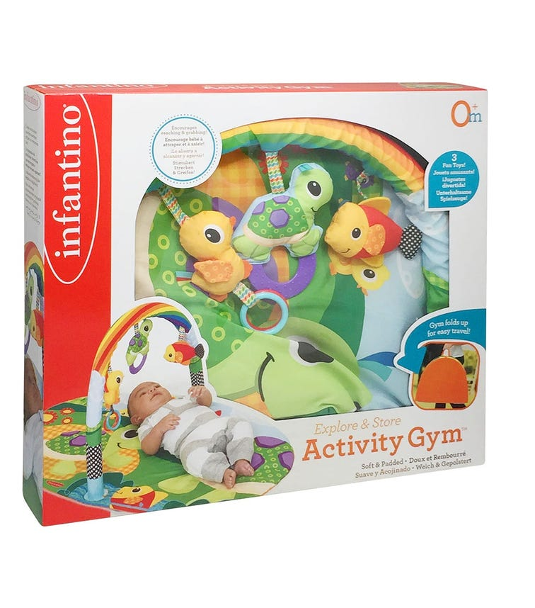 INFANTINO Explore & Store Activity Gym Turtles