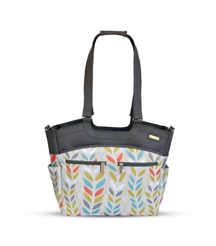 JJ COLE Camber Baby Diaper Bag Tote With Changing Pad Stroller Straps