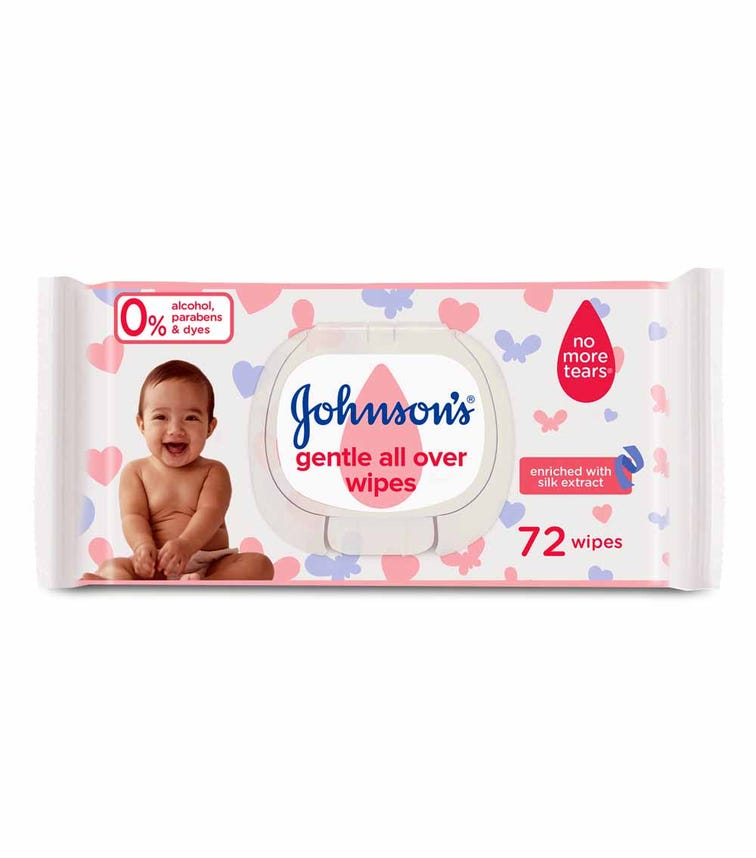 JOHNSONS BABY Wipes - Gentle All Over, Pack Of 72 Wipes