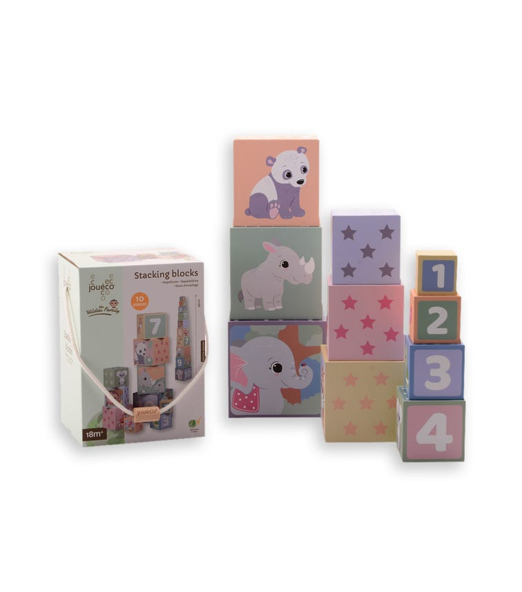 JOUECO The Wildies Family Stacking Block (10 Pieces)