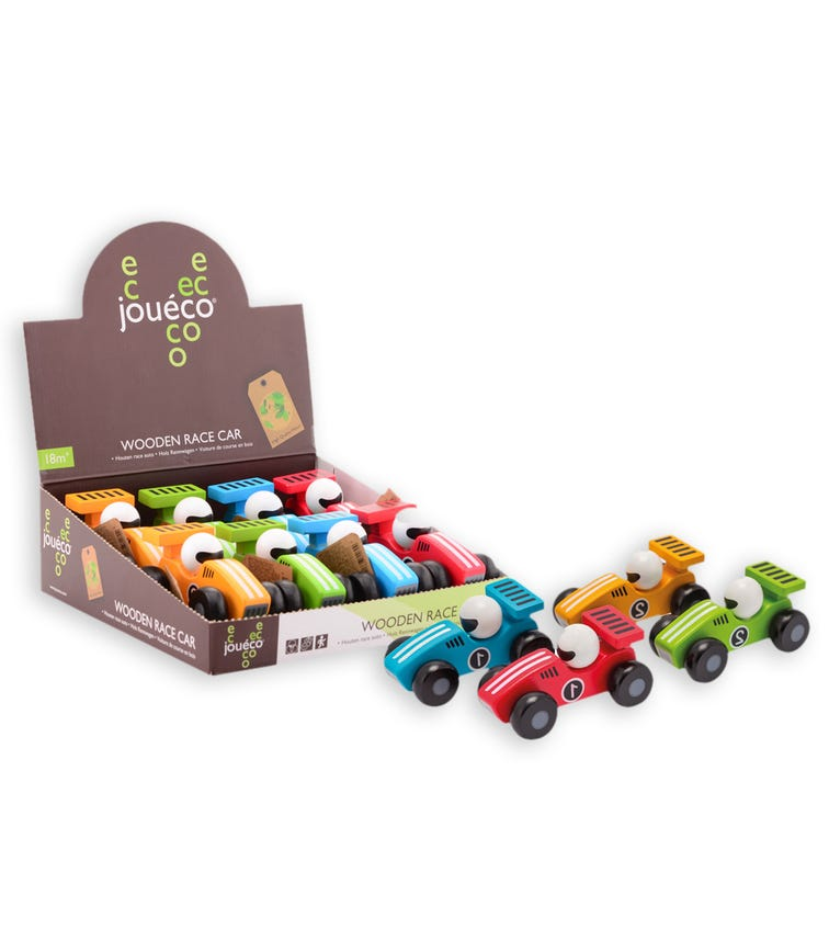 JOUECO Wooden Cars 12.5CM In Display (Assorted)