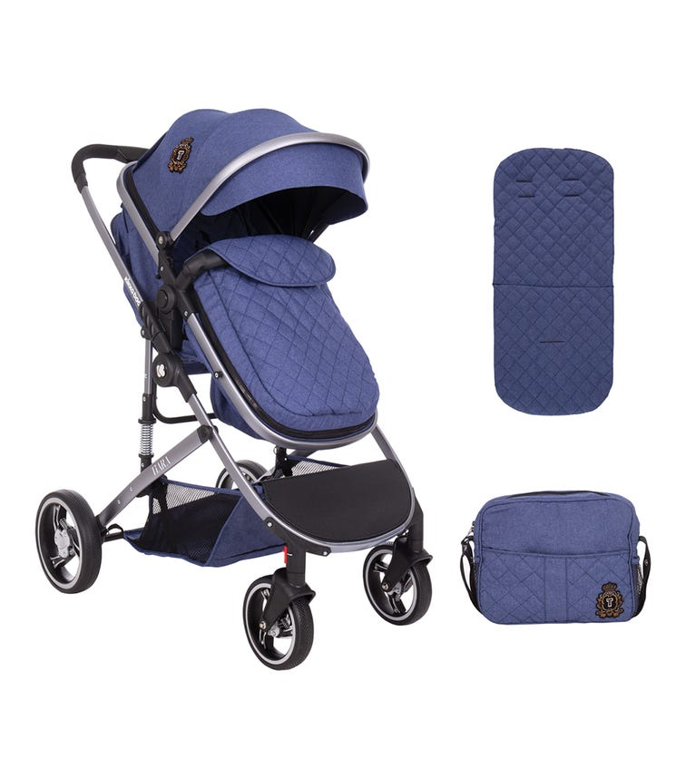 KIKKABOO Stroller 2 In 1 Tiara Dark Blue