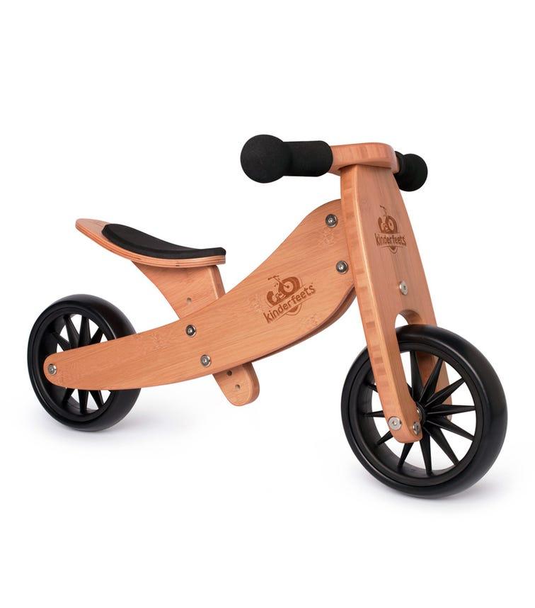 KINDERFEETS 2In1 Tiny Tot Tricycle Balance Bike Bamboo