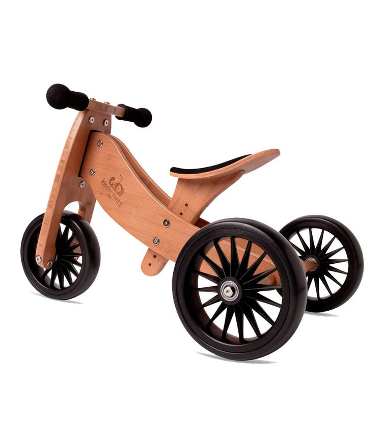 KINDERFEETS 2 In 1 Tiny Tot Plus Tricycle Balance Bike Bamboo