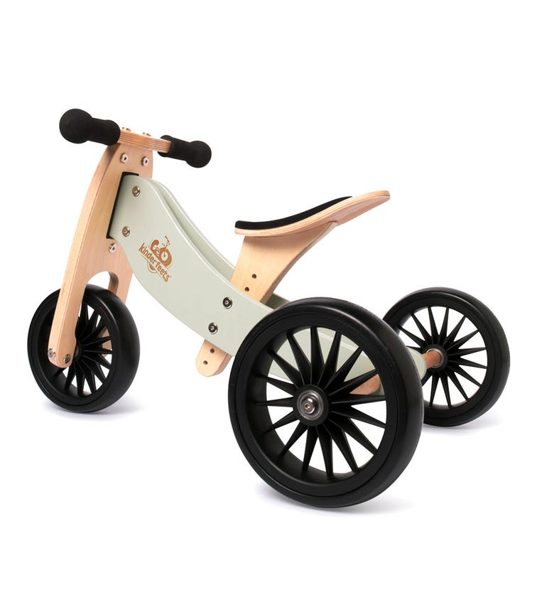 KINDERFEETS 2 In 1 Tiny Tot Plus Tricycle Balance Bike Silver Sage