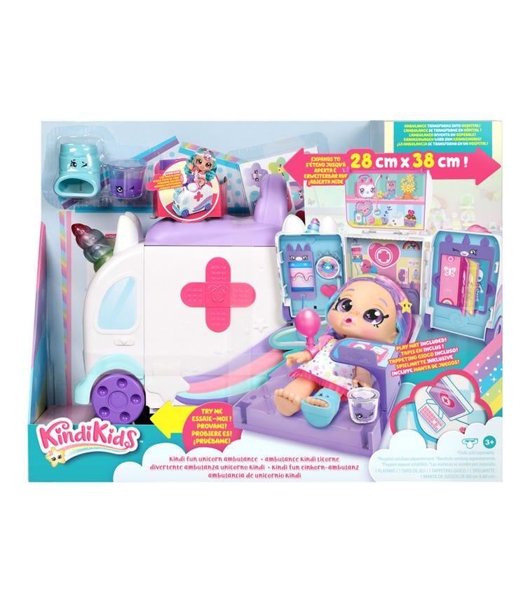 KKS S3 Ambulance Playset Kindi Fun Unicorn Ambulance