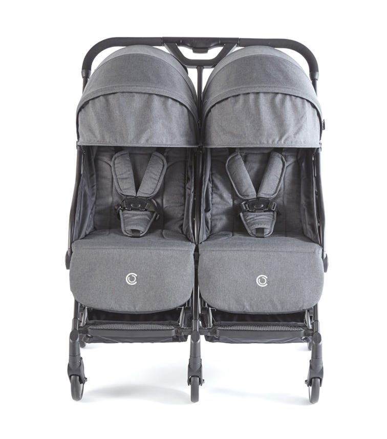 KOLCRAFT  Contours Bitsy Compact Double Stroller Graphite Grey