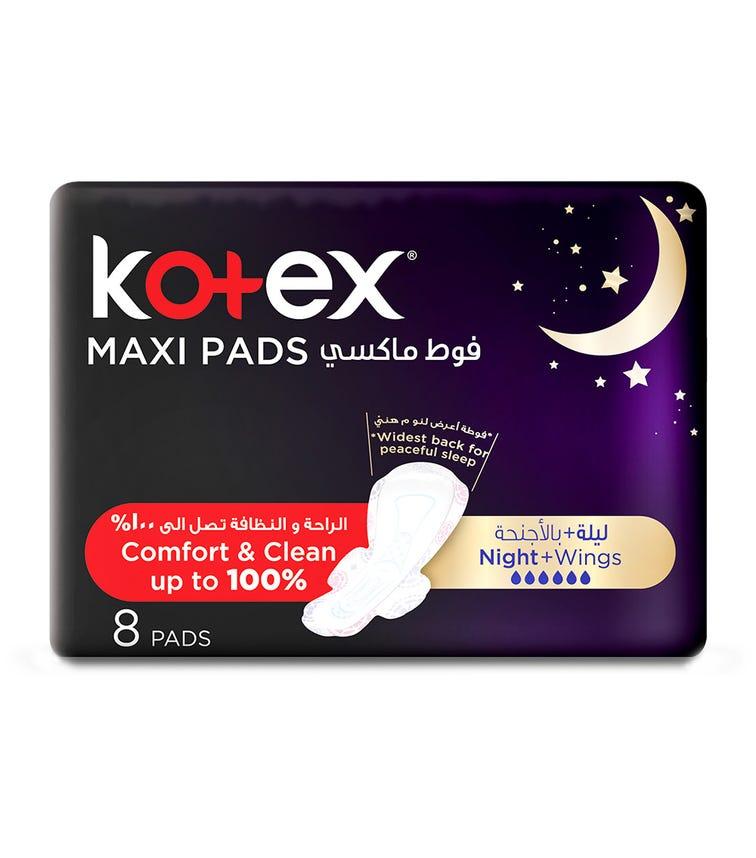 KOTEX Maxi Pads Night With Wings 8 Sanitary Pads