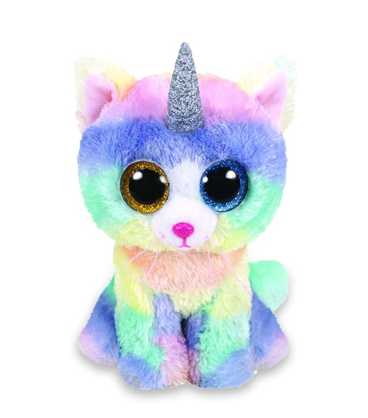 TY Beanie Boos Cat Heather Horn Pastel (Large)