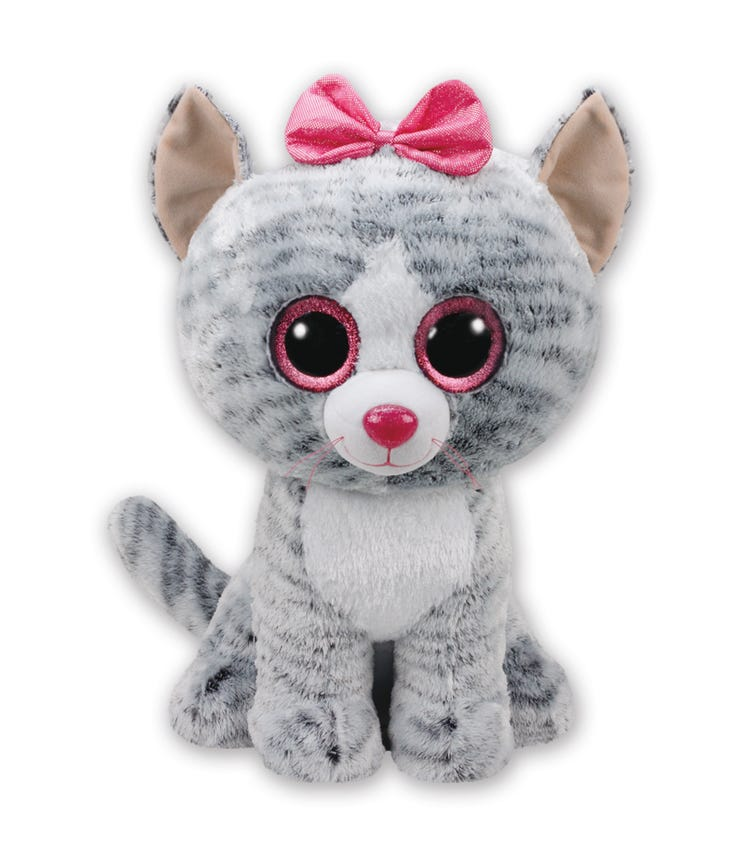 TY Beanie Boos Cat Kiki Grey Large 17-Inch