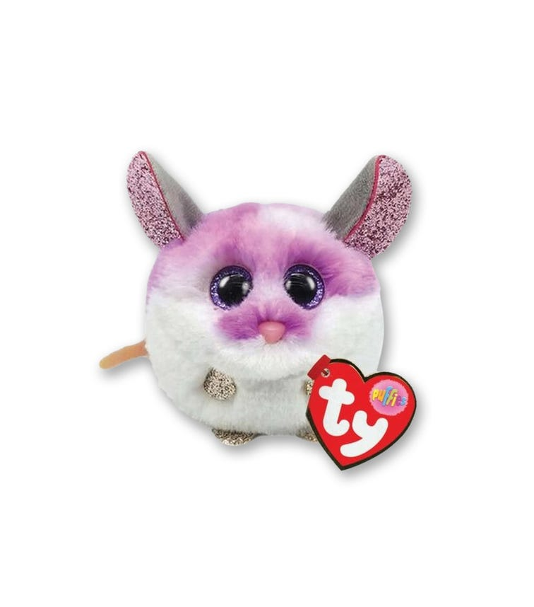 TY Puffies Mouse Colby Purple