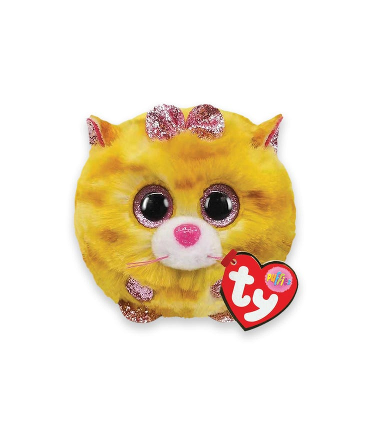 TY Puffies Cat Tabitha Yellow