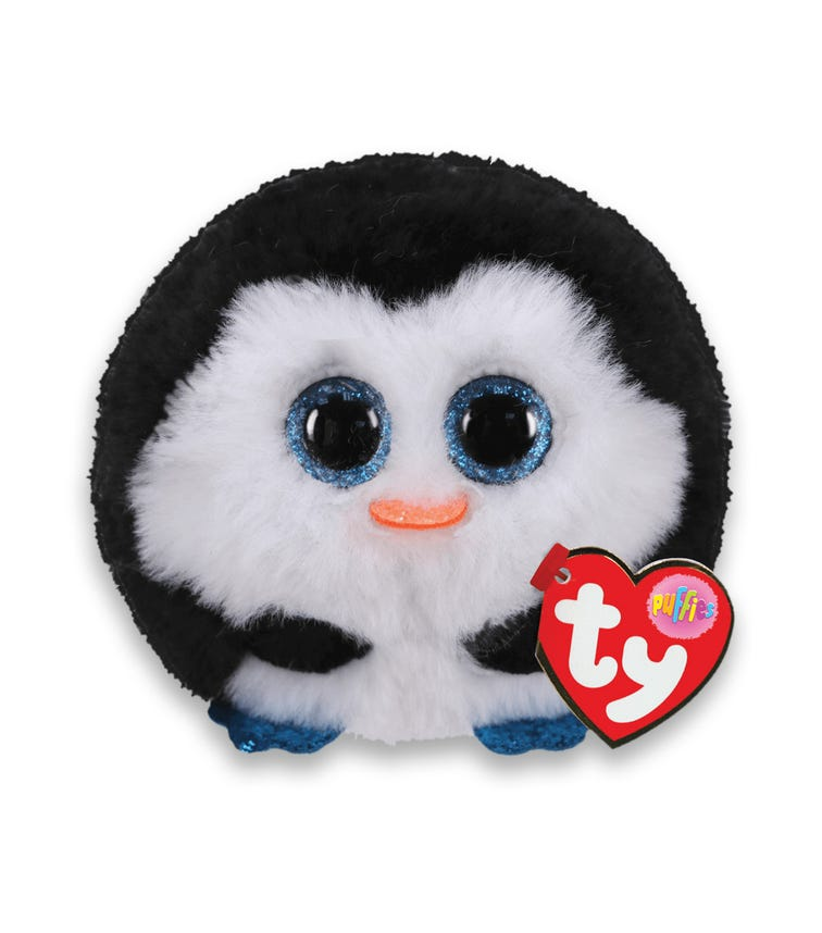 TY Puffies Penguin Waddles Black and White