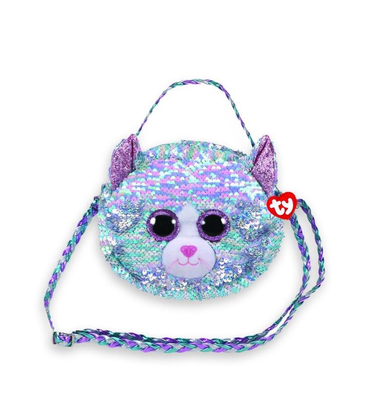 TY Fashion Sequin Cat Blue Purse