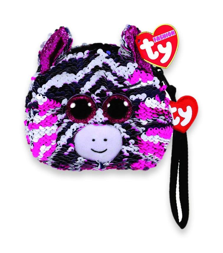 TY Fashion Sequin Zebra Zoey Wristlet
