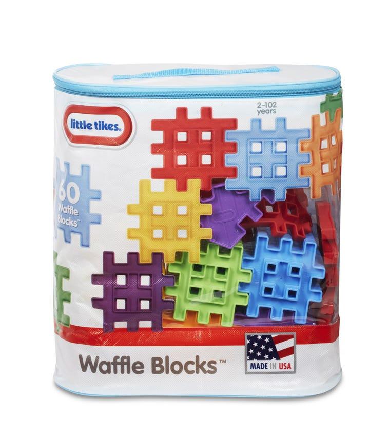 LITTLE TIKES Waffle Blocks 60 Pieces Bag