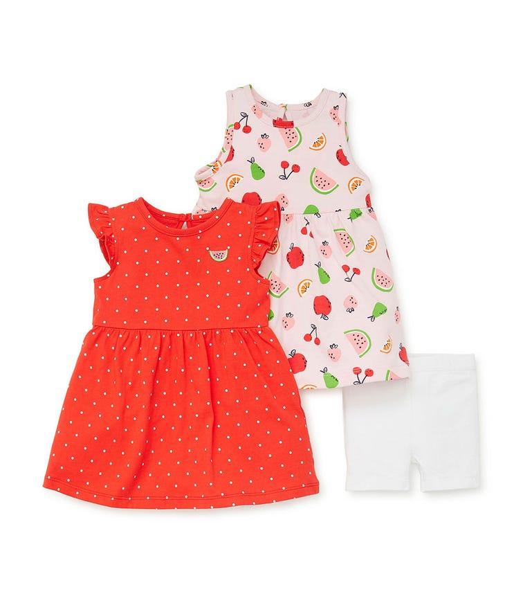 LITTLE ME Fruit Knit Dress Set