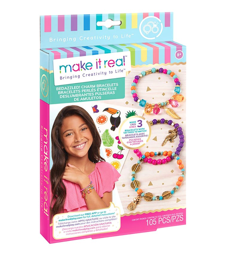 MAKE IT REAL Bedazzled! Charm Bracelets Graphic