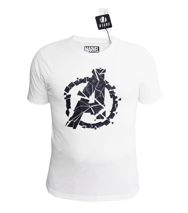 MARVEL Avengers Mens T-shirt White