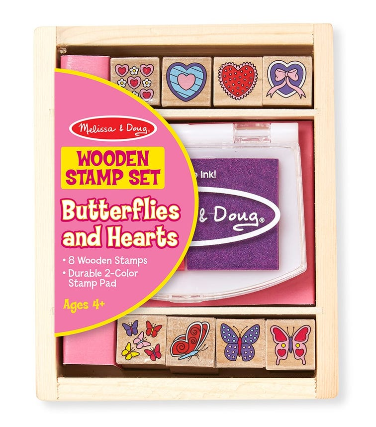 MELISSA&DOUG Butterfly And Hearts Stamp Set