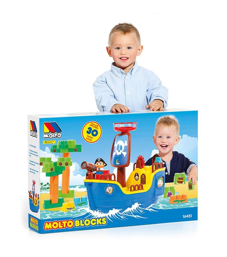 MOLTO Pirate Ship With 30 Blocks