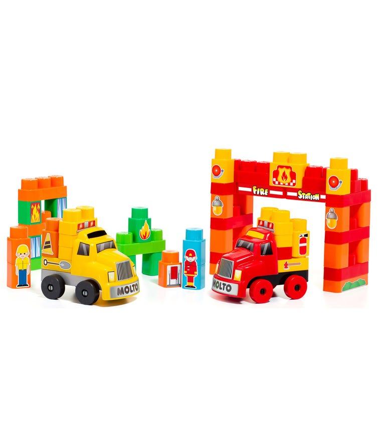 MOLTO Blocks Trucks Emergency Set 60 Pieces