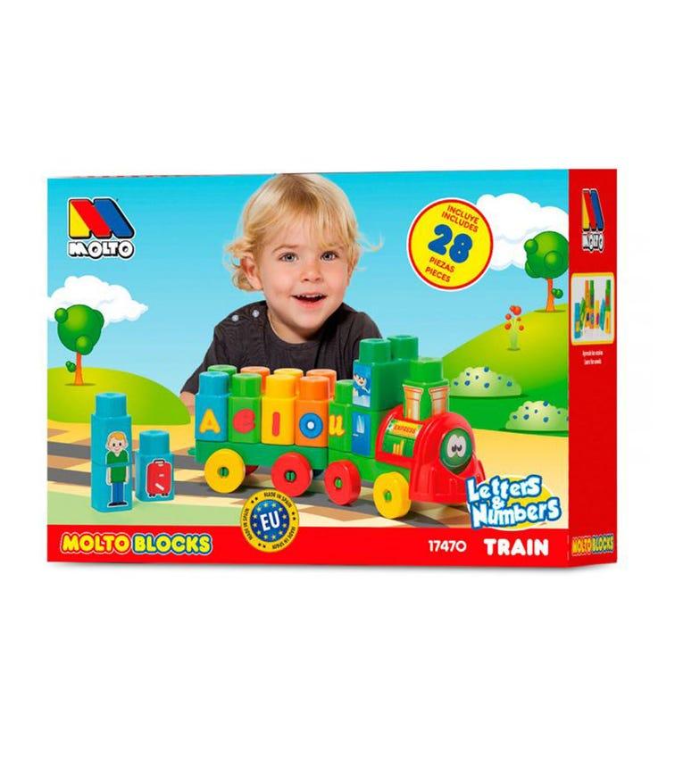 MOLTO Blocks Train 28 Pieces