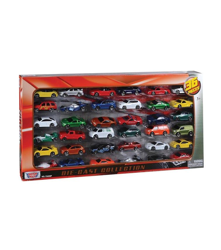 MOTORMAX 36 Pieces Diecast Car Set Mega Gift Pack