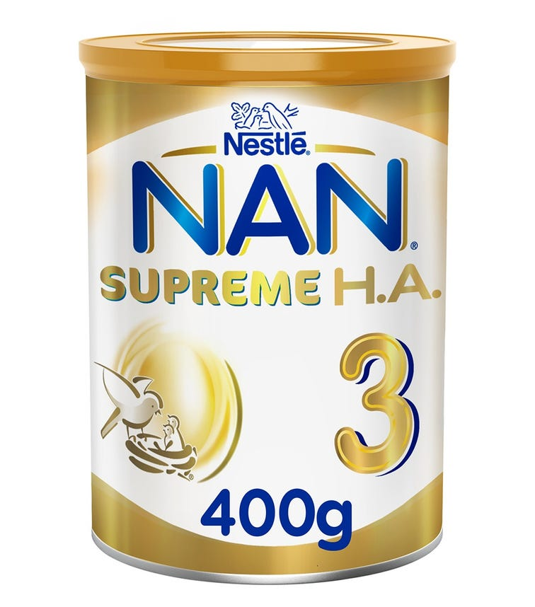 NESTLE Nan Supreme H.A. Stage 3 (1-3 Years) Hypoallergenic Growing-Up Milk - 400 G