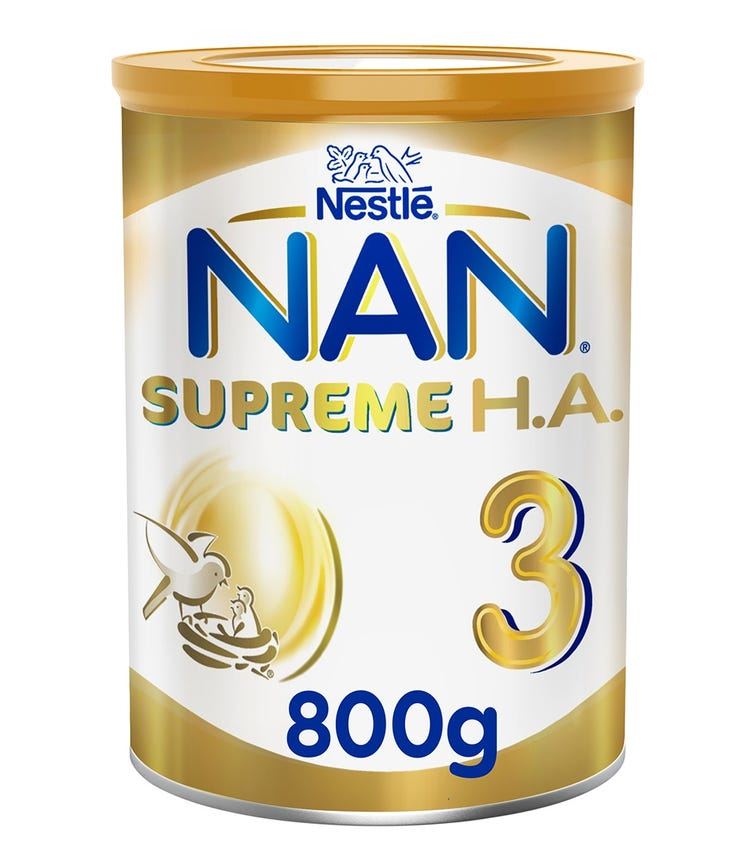NESTLE Nan Supreme H.A. Stage 3 (1-3 Years) Hypoallergenic Growing-Up Milk - 800 G