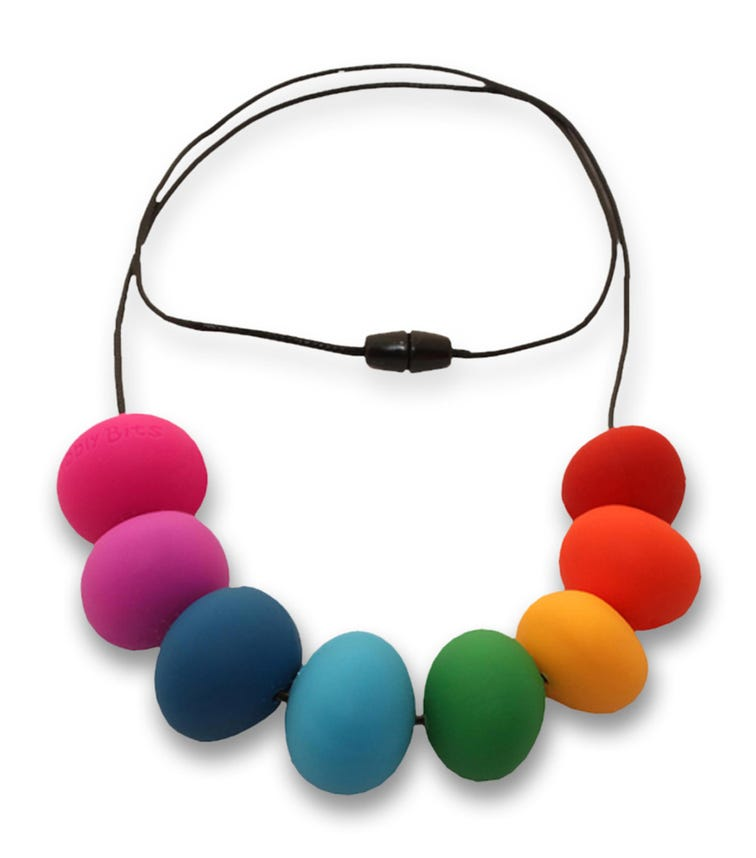NIBBLY BITS Abacus Necklace Rainbow