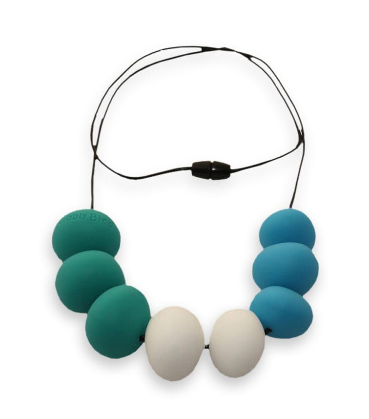 NIBBLY BITS Abacus Necklace Seascape