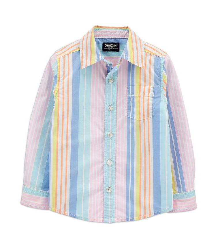 OSHKOSH Striped Button-Front Shirt