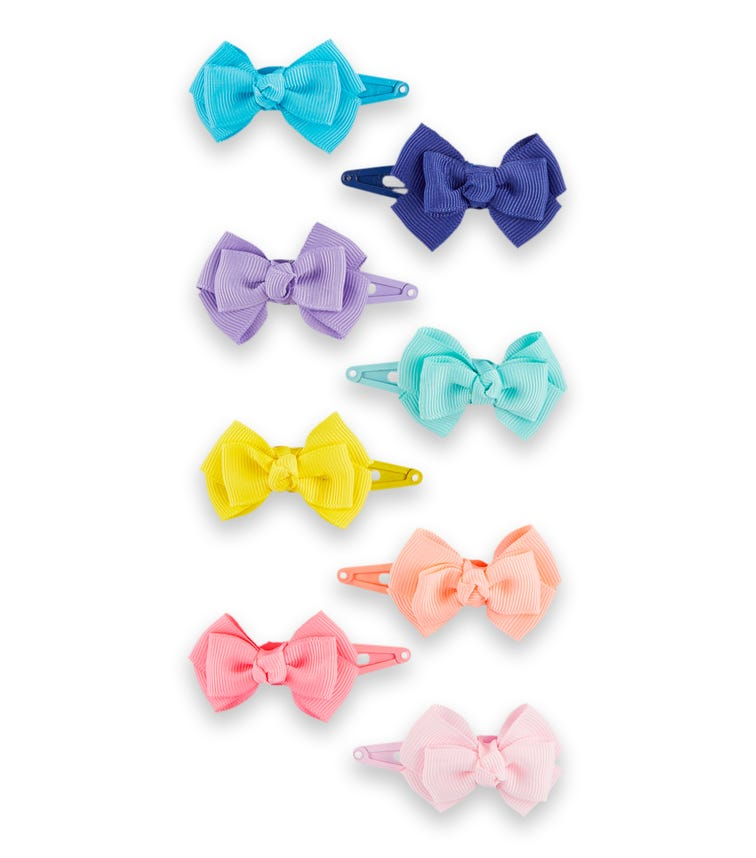 OSHKOSH 8-Pack Rainbow Bow Hair Clips