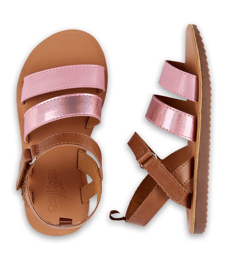 OSHKOSH Metallic Pink Sandals
