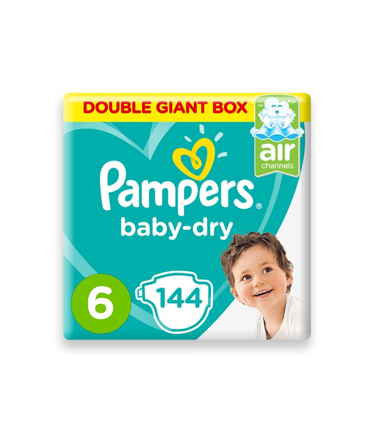 PAMPERS Baby-Dry Diapers, Size 6, Extra Large