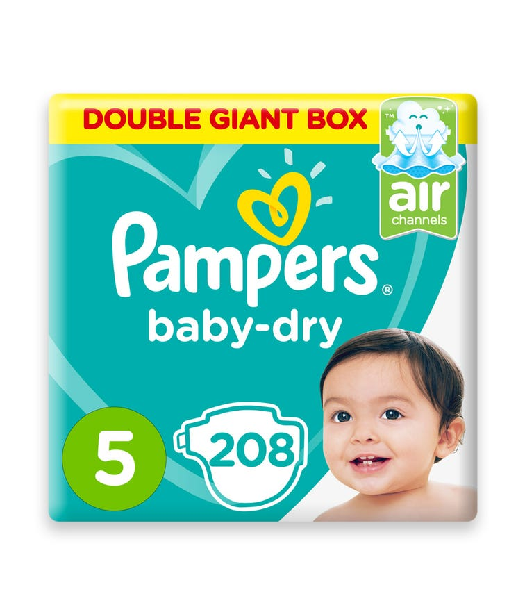 PAMPERS Baby-Dry Diapers, Size 5, Junior