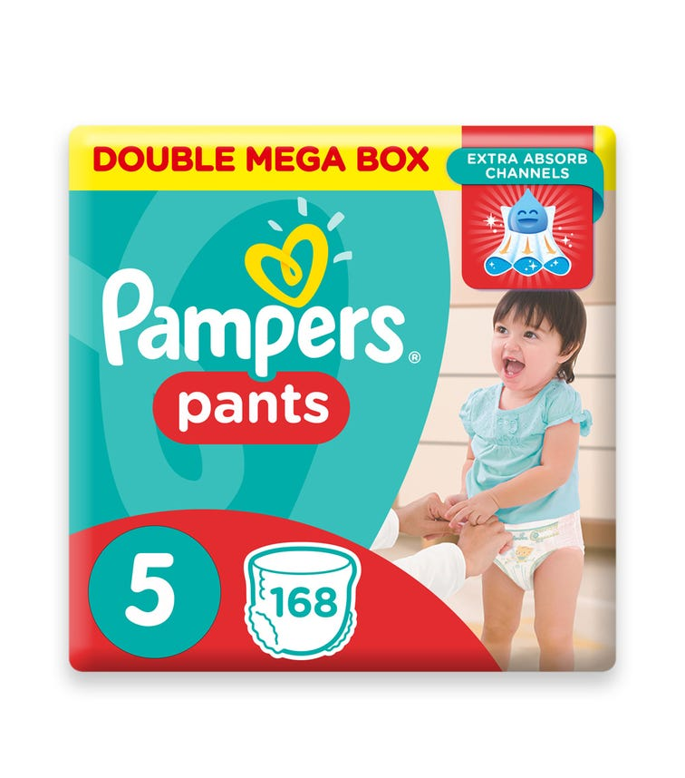 PAMPERS Pants Diapers, Size 5, Junior