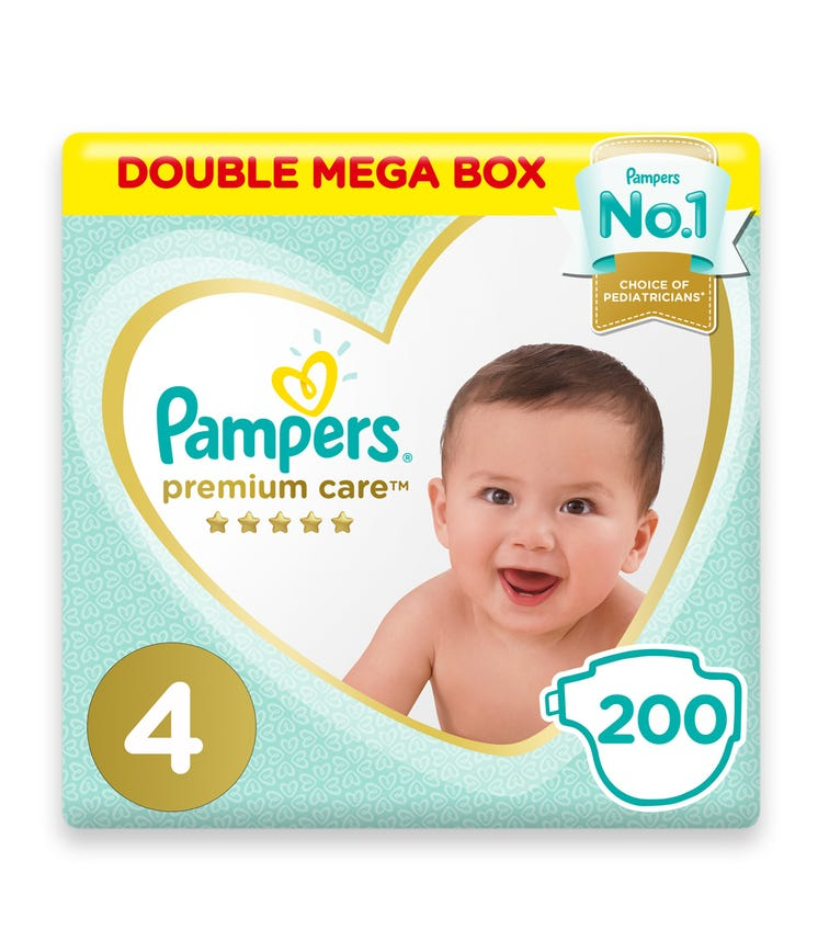 PAMPERS Premium Care Diapers, Size 4, Maxi