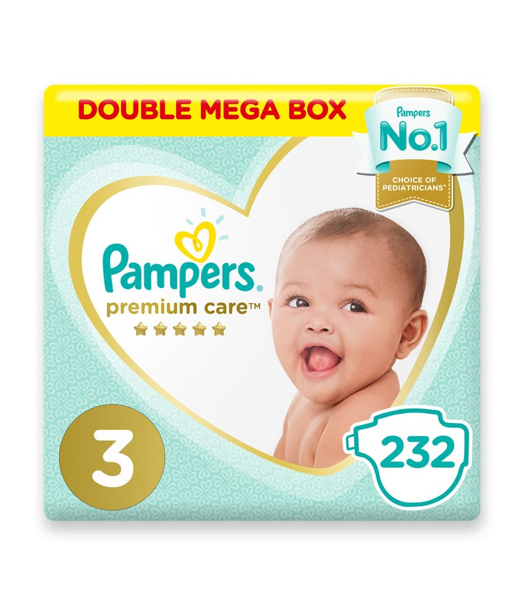 PAMPERS Premium Care Diapers, Size 3, Midi