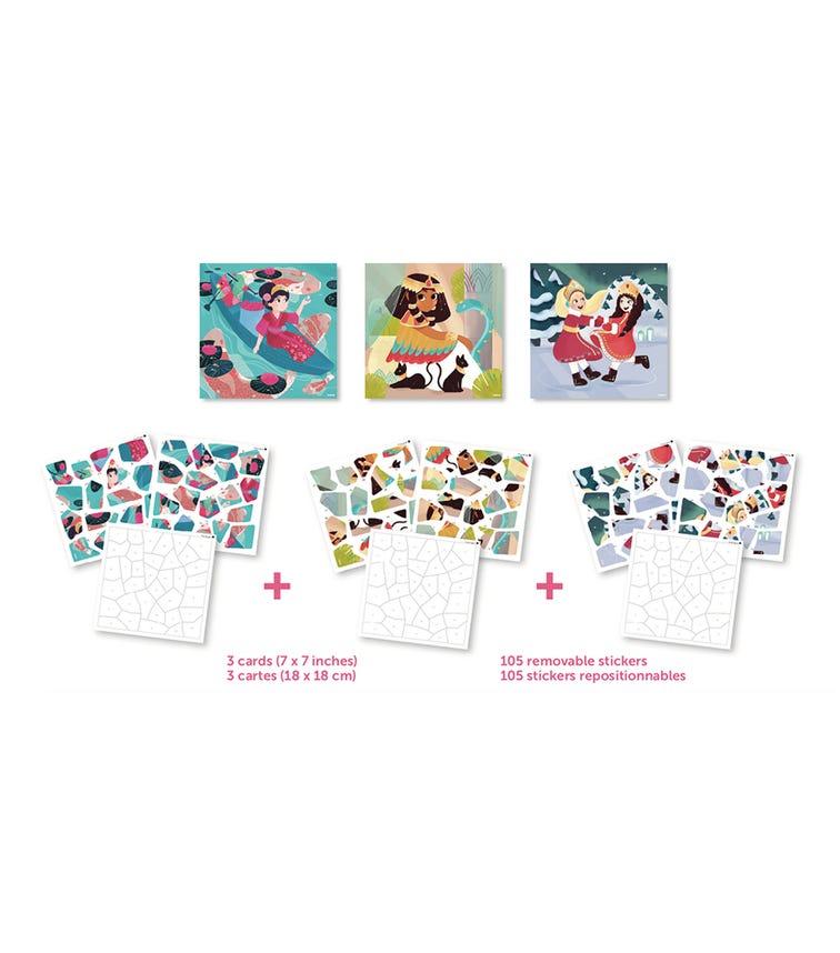 POPPIK My Sticker Puzzle Princesses