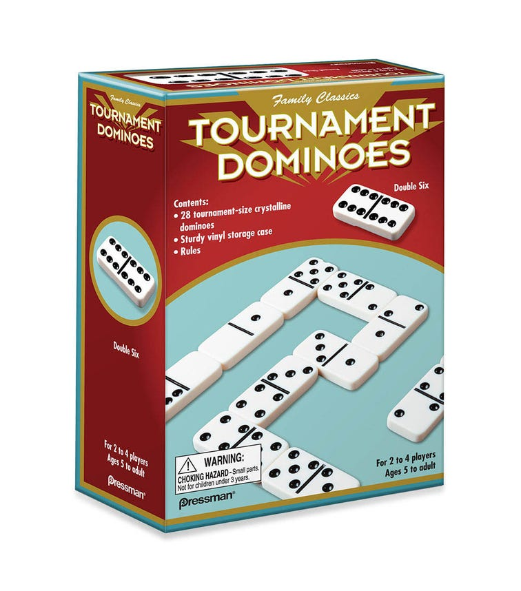 PRESSMAN Family Classics Tournament Dominoes Double Six Crystalline Tiles