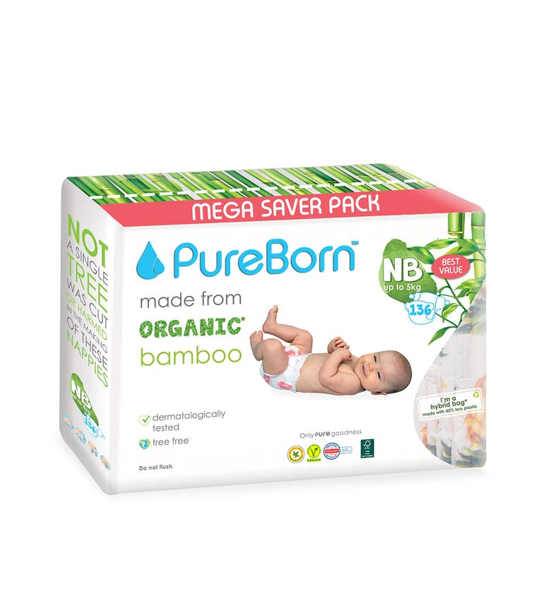 PURE BORN New Born Value 0 To 4.5Kg 136'S