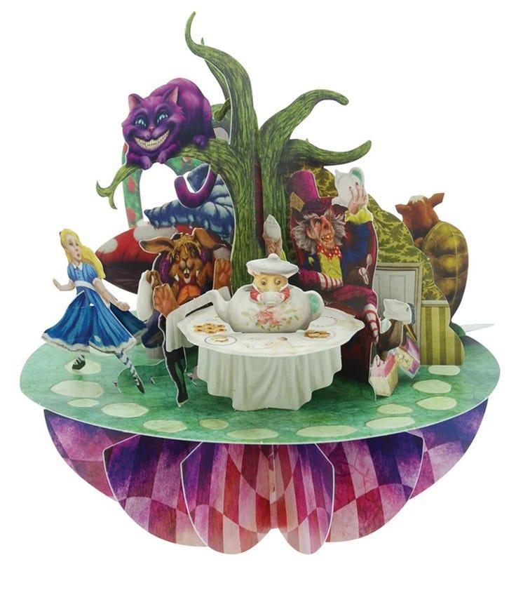 SANTORO London Alice In Wonderland 3D Pirouette Greeting Card