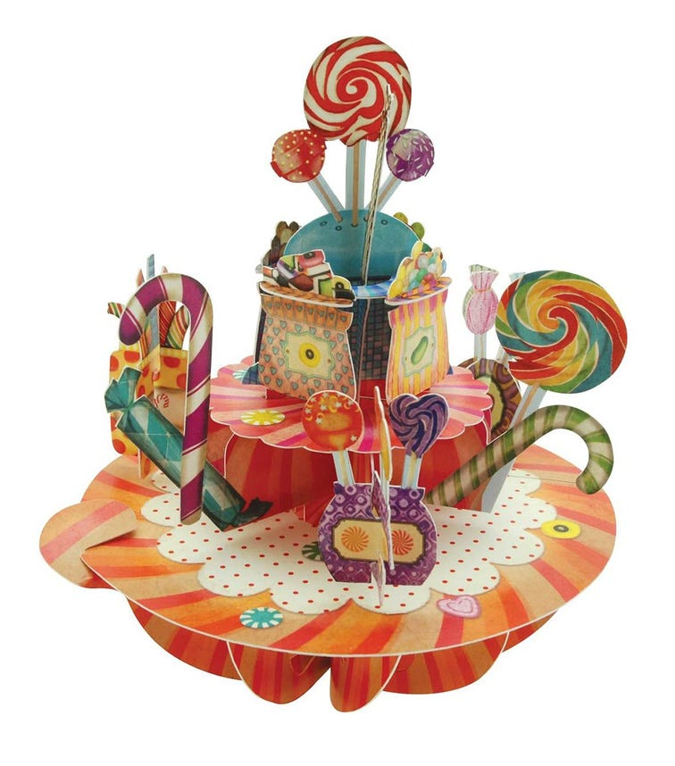 SANTORO London Sweets & Candy 3D Pirouette Greeting Card