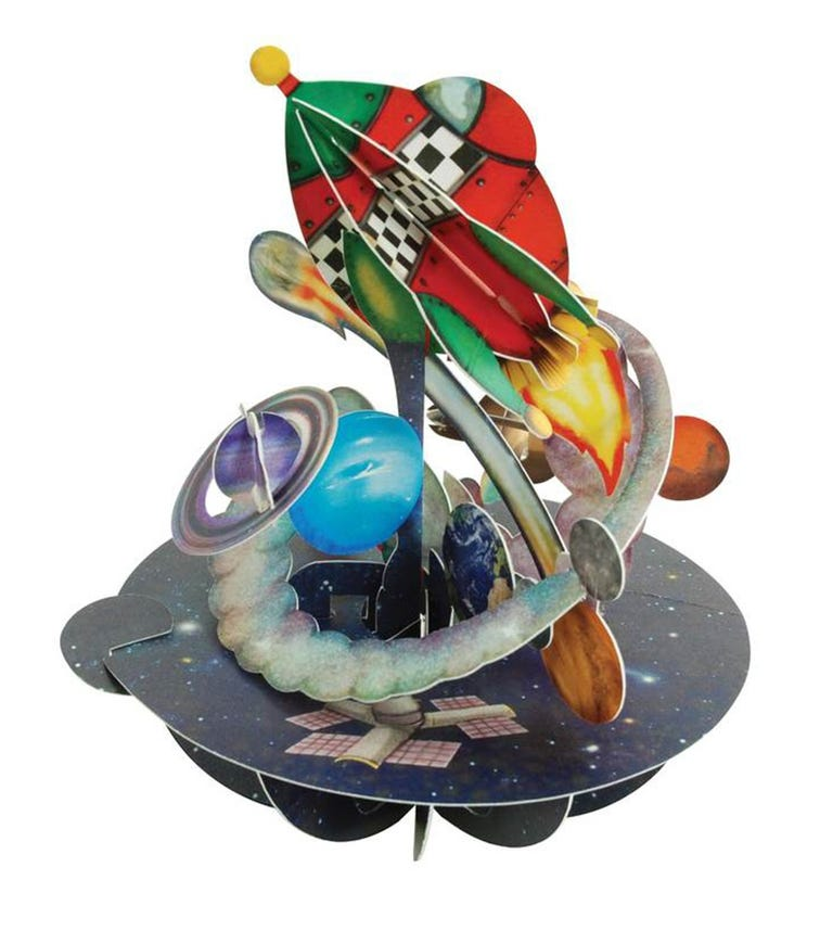 SANTORO London Out In Space 3D Pirouette Greeting Card