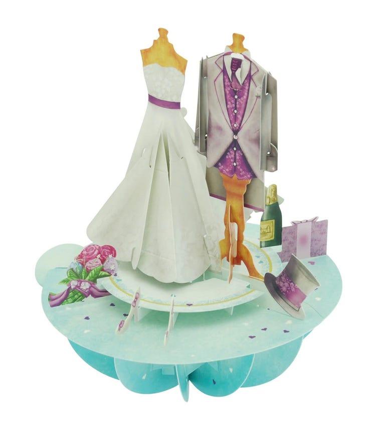 SANTORO London Wedding 3D Pirouette Greeting Card