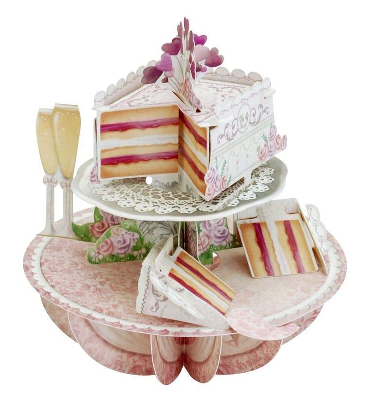 SANTORO London Wedding Cake 3D Pirouette Greeting Card