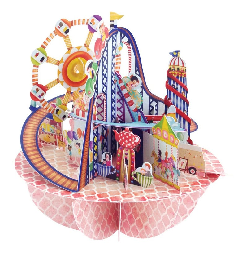 SANTORO London Fairground 3D Pirouette Greeting Card